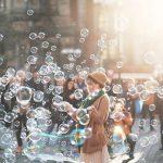 Seifenblasen Frau