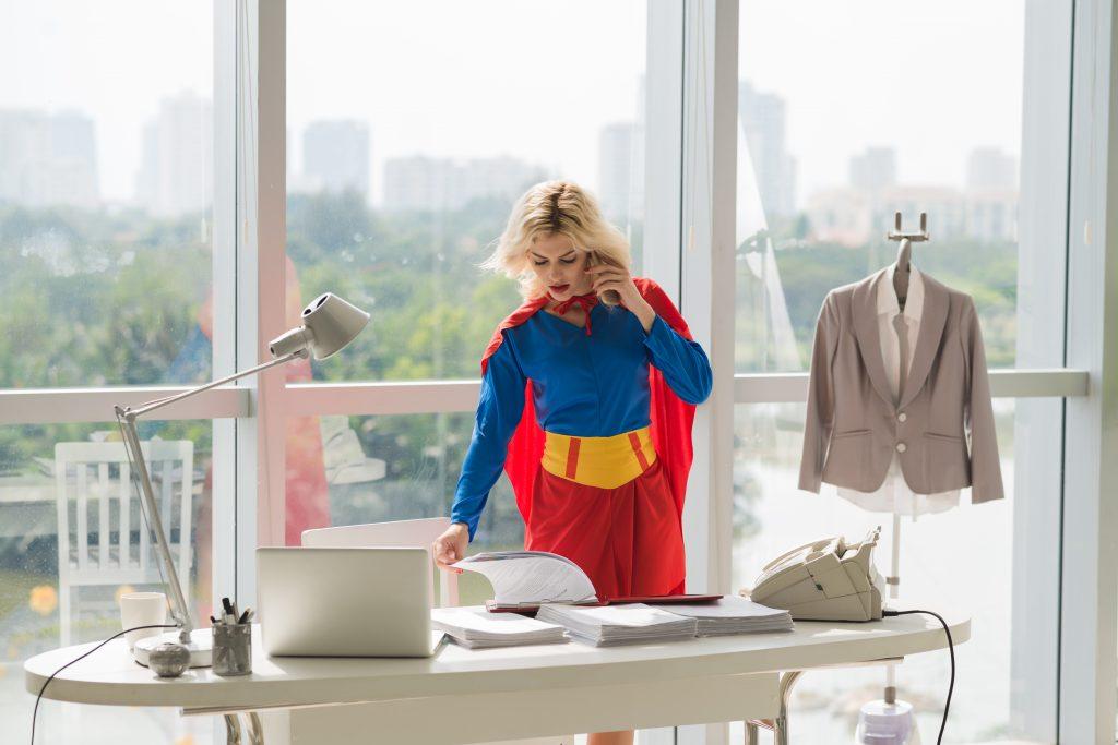 Superwoman starke Frau